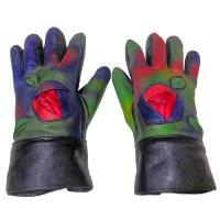 アクロモ ラムソリッドインレイ バラモチーフ手袋