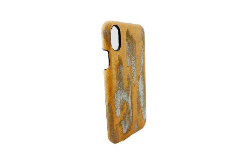 画像2: ラスト ゴールド i-Phone用レザーハードカバー iPhone X iPhone8 PLUS対応