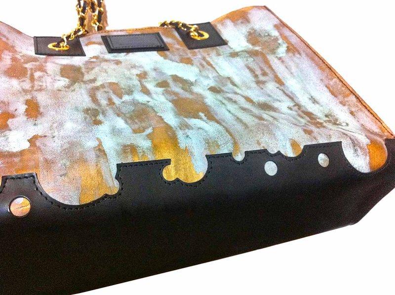 画像4: ラストゴールド 青サビトートバッグ
