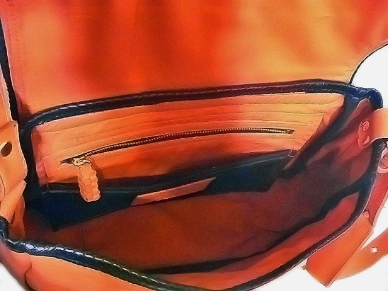 画像4: オレンジ&カーフファー ショルダーバッグ