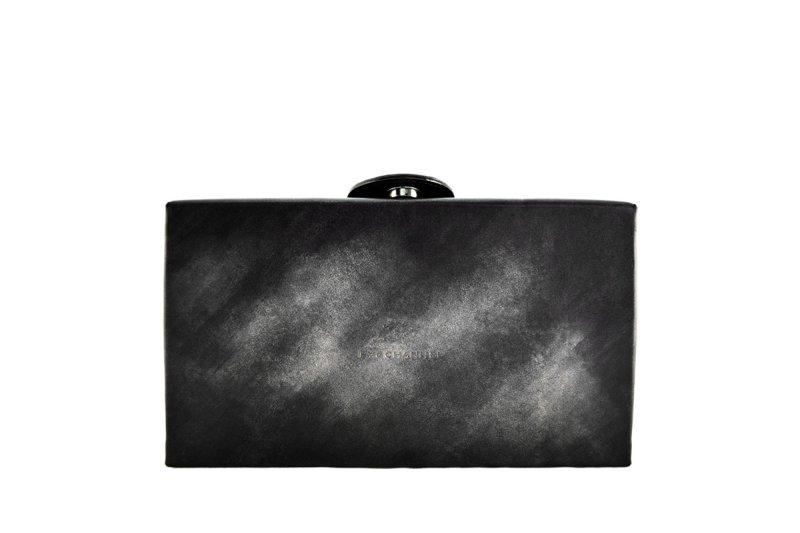 画像1: アクロモ ブラック ボックス クラッチバッグ