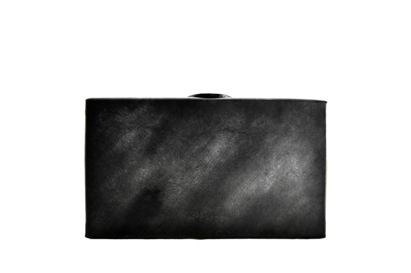 画像2: アクロモ ブラック ボックス クラッチバッグ