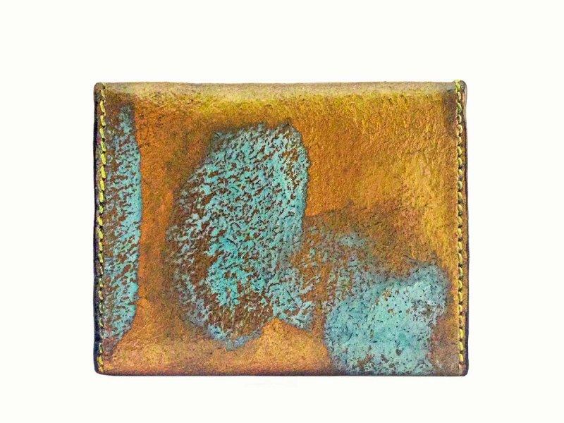 画像2: ラストゴールド 青サビ オープン コインケース